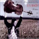 j.s. bach 6 suites for cello solo - matt haimovitz CD 3-discs 2000 oxingale used mint