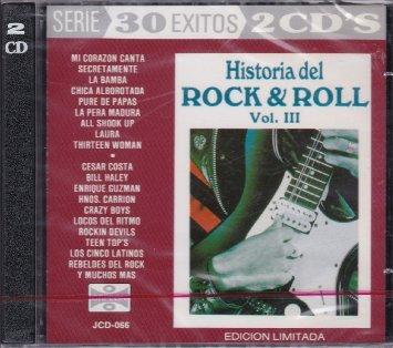 historia del rock & roll vol. III edicion limitada - various artists CD 2-discs 30 tracks orfeon