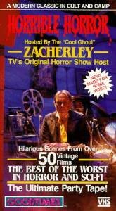 """horrible horror hosted by the """"cool ghoul"""" zacherley VHS 1986 goodtimes 110 mins B&W used mint"""