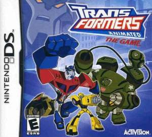 nintendo DS transformers animated the game 2008 activision used game only