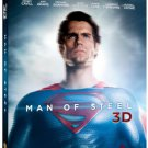 Man of Steel 3D Blu-ray Blu-ray DVD UltraViolet Combo Pack 2013 used mint