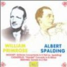 william primrose and albert spalding - mozart casadesus brahms CD 1993 pearl used mint
