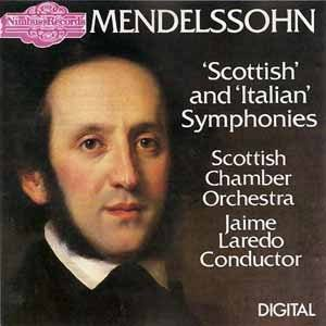 mendelssohn - scottish and italian symphonies - SCO w/ laredo CD 1986 nimbus used mint