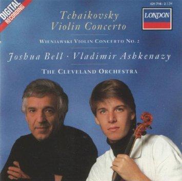 tchaikovsky violin concerto + wieniawski violin concerto no.2 - joshua bell + ashkenazy CD 1988