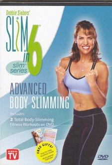 debbie siebers' slim in 6 - advanced body slimming - shape it up + tone it up DVD 2-discs used mint