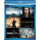 braveheart / gladiator / saving private ryan BLURAY 3-discs 2012 paramount used mint
