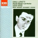 dinu lipatti - last recital CD 1994 EMI france used mint