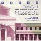 bach+ mozart - wanda landowska, harpsichord and piano CD 1992 notes italy used mint