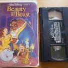 disney's beauty and the beast - black diamond collection VHS used barcode cutout