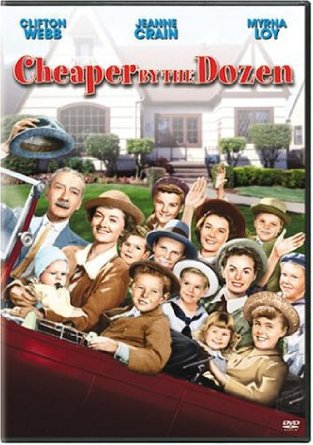 cheaper by the dozen - clifftop webb + jeanne crain DVD 1950 2003 20th century fox new
