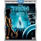 tron - legacy - Four-Disc Combo Blu-ray 3D / Blu-ray / DVD / Digital Copy used mint