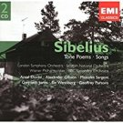j. sibelius - tone poems + songs CD 2-discs 2004 EMI classics used mint