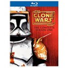 star wars - clone wars the complete season one BLURAY 3-discs 484 minutes 2011  used mint