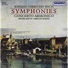 johann christian bach - symphonies: concerto armonico - szuts + spanyi CD 1997 hungaroton used mint