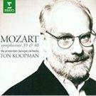 mozart symphonies 39 & 40 - amsterdam baroque orchestra + ton koopman CD 1996 erato used mint