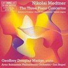nikolai medtner - three piano concertos - madge, piano CD 2-discs 2001 BIS used mint