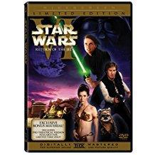 star wars VI - return of the jedi DVD 2-discs widescreen limited edition 2006 136 mins used mint
