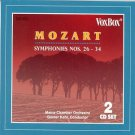 mozart symphonies nos. 26 - 34 - mainz chamber orchestra + gunter kehr CD 2-discs 1992 vox used mint