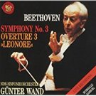 beethoven symphony 3 + overture 3 leonore - gunter wand + NDR-sinfonirorchester CD 1991 RCA