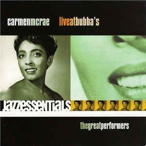 carmen mcrae - live at bubba's CD 2000 point entertainment navarre 12 tracks new