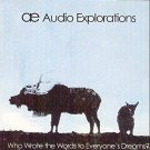 audio explorations - who wrote the words to everyone's dreams? CD 1998 stripmine 8 tracks used mint
