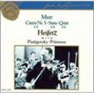 mozart concerto no.5 + sonata k.378 + quintet k.516 - heifetz CD 1989 RCA gold seal mint