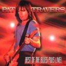 pat travers - best of the blues plus live! CD 1997 shrapnel 13 tracks used mint
