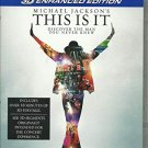 michael jackson - this is it Bluray 3D enhanced edition 2010 PG columbia new