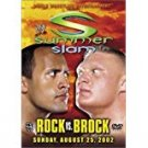 WWE summer slam Rock vs Brock - sunday august 25, 2002 DVD used mint