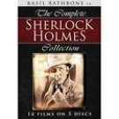 basil rathbone in the complete sherlock holmes collection - 14 films on 5 DVDs used