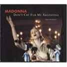 madonna - don't cry for me argentina CD maxi single 5 tracks 1997 warner used like new