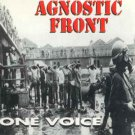 agnostic front - one voice CD 1992 relativity 12 tracks used like new