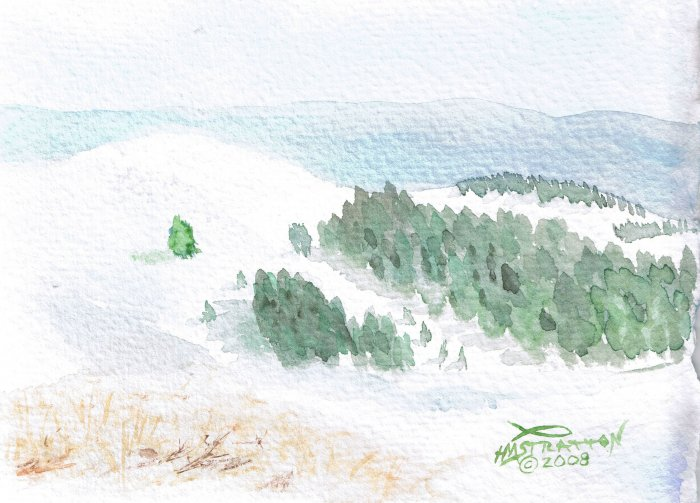010 PRINT - Winter in the Distant Hills (Original not available)
