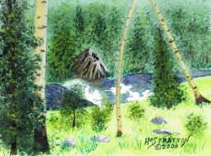 015 PRINT - Big Horn Mountain Stream (Original not available)