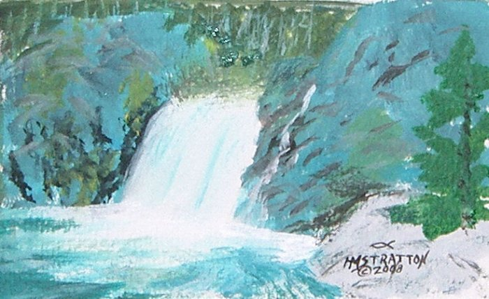 066 Waterfall near Sussex, New Brunswick - SOLD