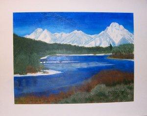 074 Grand Teton Mountains across the Yellowstone River