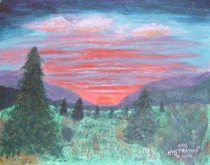 078 Radiant Sunset - SOLD