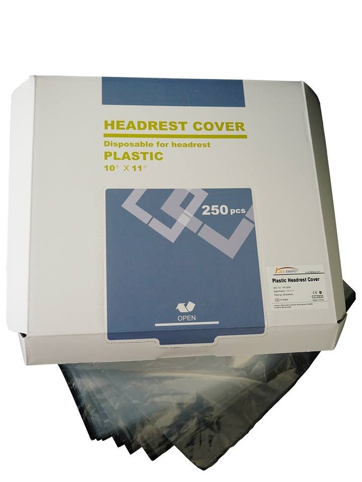 "Headrest Cover 10"" x 11"" - Prefolded in Dispenser Box - 250 Pieces"