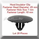 20 Pcs Hood Insulator Clip Head 25mm Hole Zise 7mm Length 10mm For:Scion-Toyota