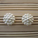 pearly classic style stud earrings