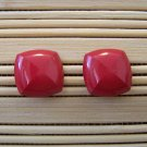 square red x stud earrings