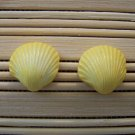 shell shaped yellow stud earrings small