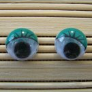 green eyelid wigglie eye stud earrings