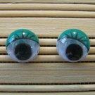green eyelid wigglie eye stud earrings