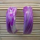clay purple hoop earrings
