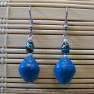clay blue textured dangle earrings