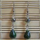 clay green and grey dangle earrings