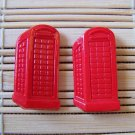 red phone booth stud earrings