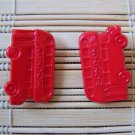 red London tour bus stud earrings
