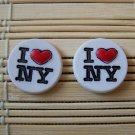 I heart NY stud earrings